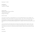Sample Confirmatiion Letter Template