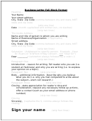 Business Letter Full Block Format