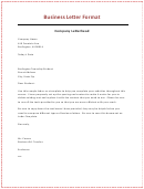 Sample Business Letter 5