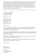 Block Style Business Letter 5