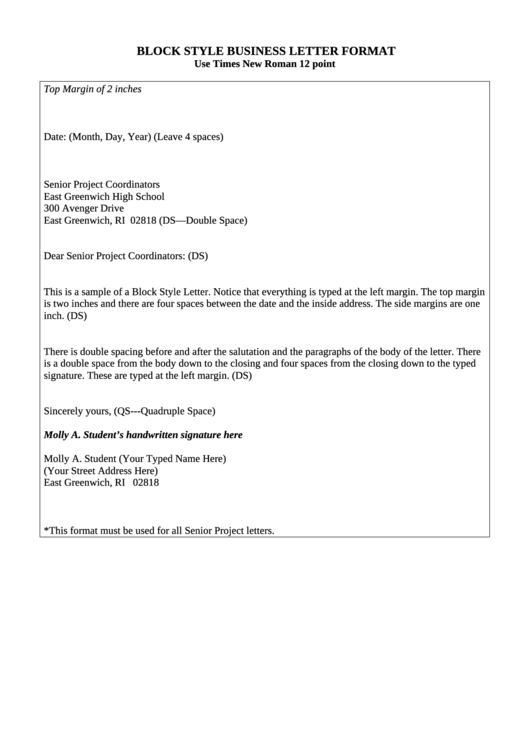 block style business letter format 8