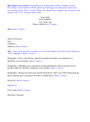 Block Style Cover Letter