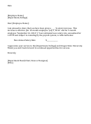 Salary Increase Model Letter Template