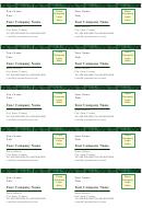Business Card Template - Green