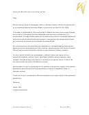 Sample Media Sponsorship Letter Template