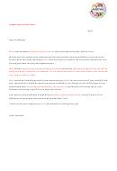 Sample Sponsorship Letter Template