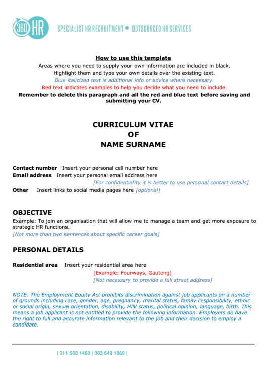 Chronological Resume Template Printable pdf