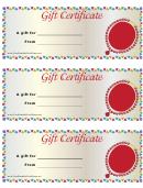 Gift Certificate Template - Jewelry