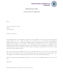 Sample Cover Letter - Hospice