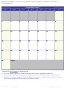 September Calendar Template - 2018
