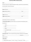 Firearm Bill Of Sale Form Form