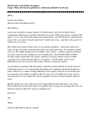 Draft Letter To The Editor Template