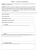 Sample - Two Pager For Syndicating Deals
