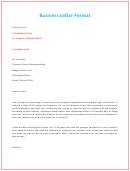 Business Letter Format 3