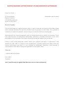 Sample Business Letter Format On Organization Letterhead
