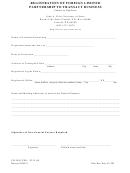 Registration Of Foreign Limited Partnership To Transact Business - Nebraska Secretary Of State