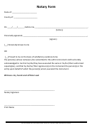 Notary Form Template