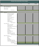 Simple Household Monthly Budget Template