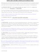 Obituary Instructions & Example Text