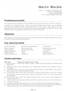 Sample Resume Template - Web Designer