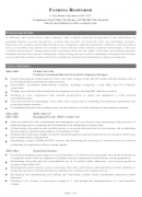 Sample Resume Template - Senior Manager