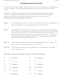 Oxidation Number Exercise