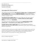 Agreement For Lawn Service