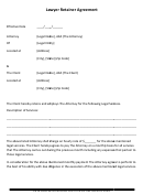 Lawyer Retainer Agreement Template