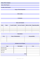 Scope Of Work Statement Template
