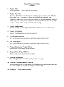 Project Proposal Outline Format