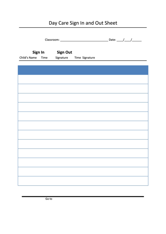 top daycare sign in sheets free to download in pdf format