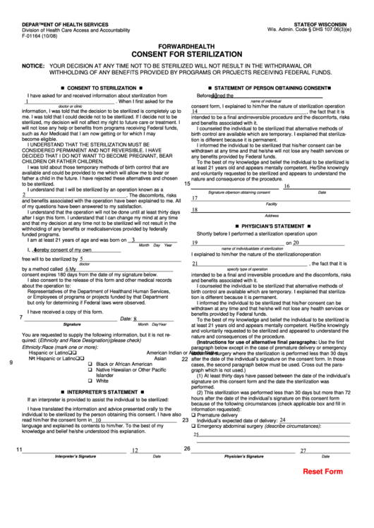 top 5 sterilization consent form templates free to download in pdf format