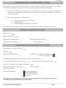 Form A23 - Subcontract Agreement Form