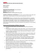 Sample Associate Pastor Job Description