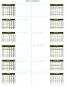 Yearly Calendar Template With Holidays - 2016