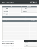 Catering Invoice Template - Gray