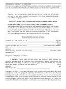 Residential Contract Of Sale Template