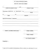 Sign-in / Sign-out Form - St. Albans High School