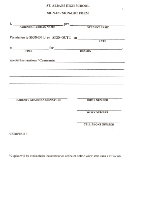 top samples sign out sheets free to download in pdf format