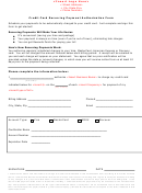 Credit Card Recurring Payment Authorization Form