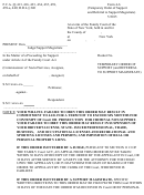 Form 4-6 - Temporary Order Of Support (and Referral To Support Magistrate)