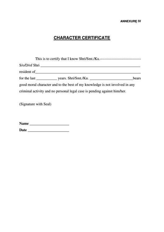 character certificate printable pdf download