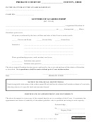 Form 15.4 - Letters Of Guardianship
