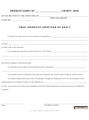 Final Order Of Adoption Of Adult