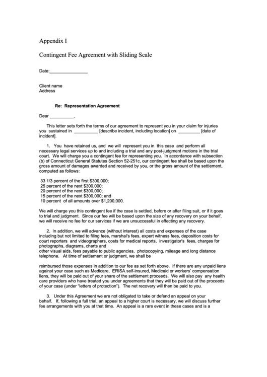 Top Contingency Fee Agreement Templates free to download in PDF format