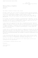 Sample Application Cover Letter Template