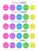 Weekly Household Chores Chart
