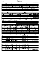 Sponge Sheet Music