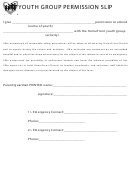 Youth Group Permission Slip