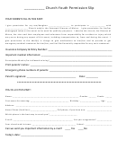 Church Youth Permission Slip